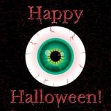 Happy halloween card. Halloween greeting card with eyeball and grunge eggect Royalty Free Stock Photos