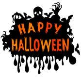 Happy Halloween card Stock Image
