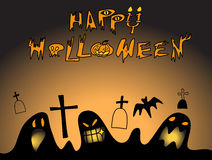 Happy Halloween. Card with scary and spooky Stock Photo