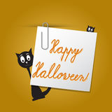 Happy Halloween card template Royalty Free Stock Photo