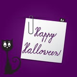 Happy Halloween card template Stock Photography