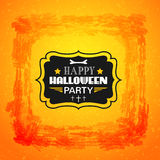 Happy Halloween card. Typography letters font type Royalty Free Stock Photo