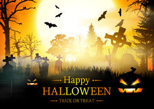 Happy Halloween Card. Stock Images