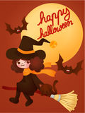 Happy halloween card Stock Images