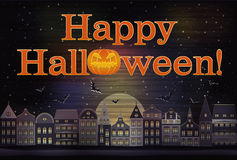 Happy Halloween card Royalty Free Stock Image