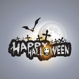 Happy Halloween Card - Vector Illustration Royalty Free Stock Image
