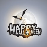 Happy Halloween Card - Vector Illustration Stock Images