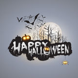 Happy Halloween Card - Vector Illustration Royalty Free Stock Photos