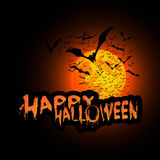 Happy Halloween Card - Vector Illustration Royalty Free Stock Images