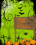 Happy halloween card Stock Photo
