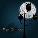 Happy Halloween card vector Royalty Free Stock Image