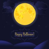 Happy Halloween card vector Stock Photos