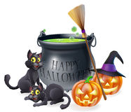 Happy Halloween Cartoon Illustration Stock Images