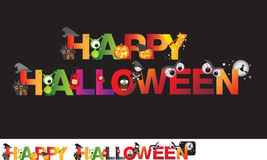 Happy halloween cartoon illustration Stock Photo