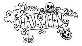 Happy Halloween Cartoon Sign Royalty Free Stock Photo