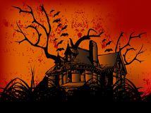 Happy Halloween Castle. Group of Illudtration Art for Halloween Event, Happy Halloween deserted Castle royalty free illustration