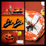 Happy Halloween collage Royalty Free Stock Images
