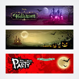 Happy Halloween collections banners Royalty Free Stock Photography