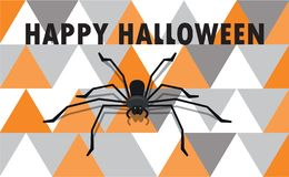 Happy Halloween - color background invitation royalty free stock photo