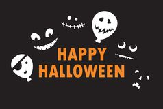Happy Halloween - color background invitation stock images