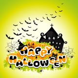 Happy Halloween colored abstract inscription Royalty Free Stock Image