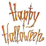 Happy Halloween colored inscription Stock Images