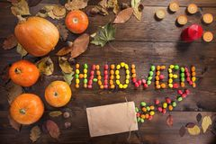 Happy Halloween! The concept of the holiday royalty free stock photos
