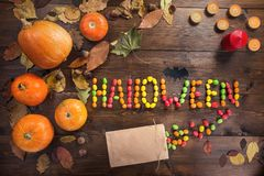 Happy Halloween! The concept of the holiday royalty free stock photo