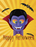Happy Halloween Count Dracula Illustration Stock Photography