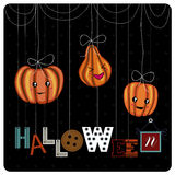 Happy Halloween cover design Stock Image