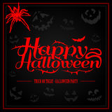 Happy Halloween creepy letters for greeting card Stock Photos