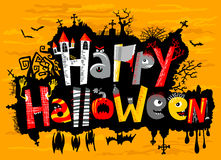 Happy Halloween. Cute card lettering Royalty Free Stock Photo