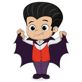 Happy Halloween.Cute dracula children in halloween. Royalty Free Stock Photo
