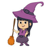 Happy Halloween.Cute witch in halloween party. Stock Image