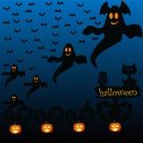 Happy halloween. On the dark blue background Stock Photo