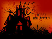 Happy Halloween Dark Castle Stock Photo
