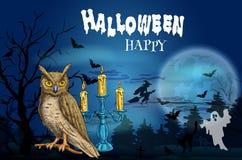Happy Halloween dark greeting card Stock Photos