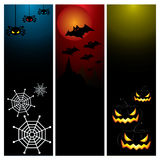 Happy Halloween day banner set design Royalty Free Stock Image