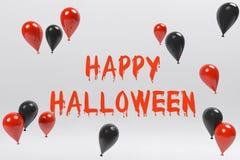 Happy Halloween Day. And Black,Orange Balloon Stock Photography