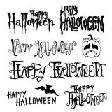 Happy halloween Day hand drawn  Stock Photo