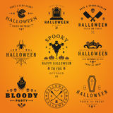 Happy Halloween day labels and badges. Design collection vector illustration Stock Photo