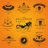 Happy Halloween day labels and badges Royalty Free Stock Photography