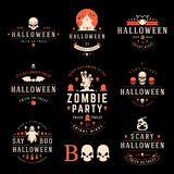 Happy Halloween day labels and badges Royalty Free Stock Photo