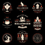 Happy Halloween day labels and badges. Design collection vector illustration Stock Photography