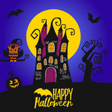 Happy halloween day vector illustration Trick or treat Halloween party Stock Images