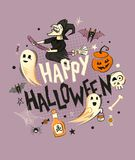 Happy Halloween decorations Royalty Free Stock Photos