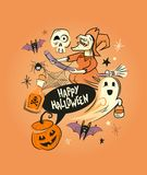 Happy Halloween decorations Royalty Free Stock Photography