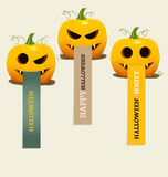 Happy Halloween design background, Cute note paper with Hallowee Stock Photos