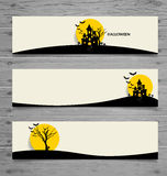 Happy Halloween design background, Cute note paper with Hallowee Stock Photography