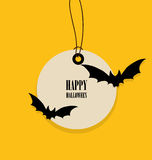 Happy Halloween design background, Cute note paper with Hallowee Stock Image
